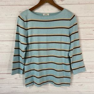 Brooks Brothers 346 Silk Blend Boat Neck Sweater